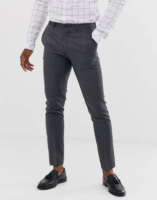 Jack and Jones super slim fit stretch suit pants in grey