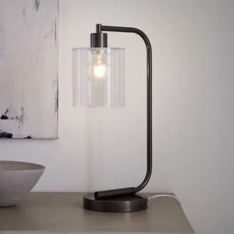 west elm Lens Table Lamp + USB - Antique Bronze
