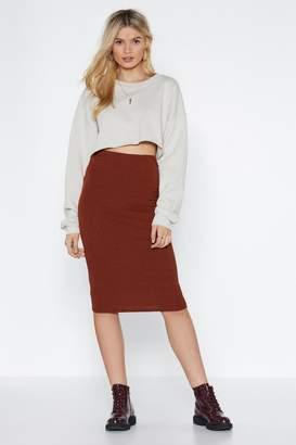 Nasty Gal Rib You into Shape Midi Skirt