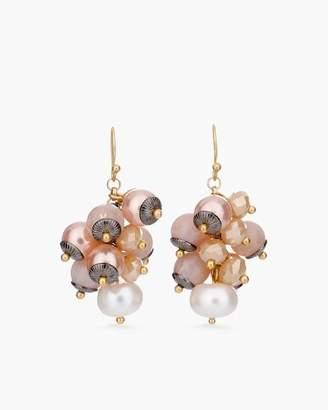 Blush Stone Cluster Earrings