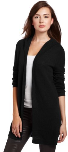 Christopher Fischer Women's 100% Cashmere Solid Featherweight Hooded Sweater
