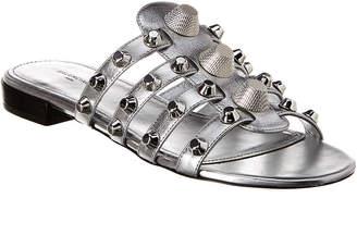 Balenciaga Giant Studded Metallic Leather Sandal