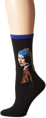 Hot Sox Women's Girl with The Pearl Earring Crew Socks