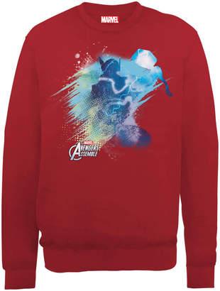 Marvel Avengers Assemble Thor Art Burst Sweatshirt