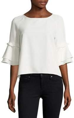 Design Lab Ruffle-Sleeve Blouse