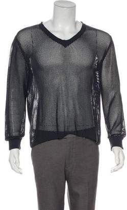 Dolce & Gabbana Mesh V-Neck Sweaters