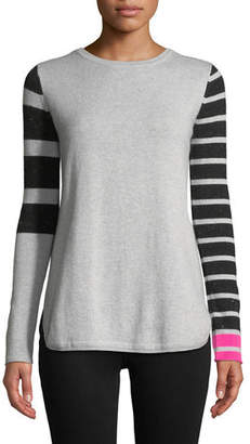 Lisa Todd Classic Pop Striped Cashmere Sweater, Plus Size