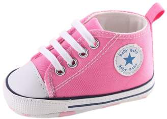 Leapfrog Baby Boys Girls Fashion High Top T-tied Lace Up Sports Canvas Sneakers Prewalker Shoes