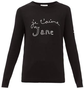 Bella Freud Je T'aime Jane Merino Wool Sweater - Womens - Black