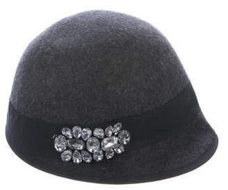 Saks Fifth Avenue Jewel-Embellished Wool Hat w/ Tags