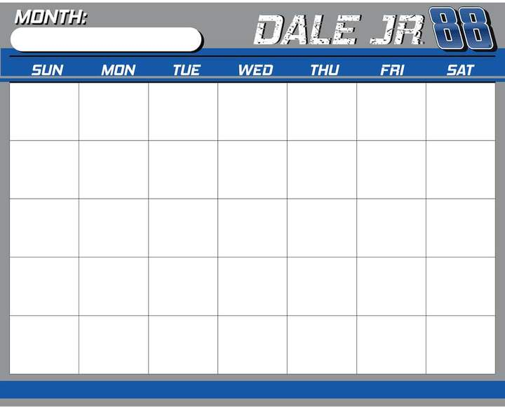Kohl's Dale Earnhardt, Jr. Dry-Erase Calendar