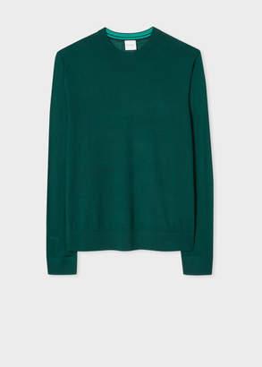 Paul Smith Men's Dark Green Merino Wool Sweater