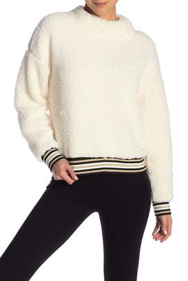 Nanette Lepore Snow Bunny Faux Shearling Pullover