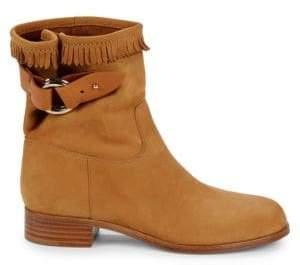 Frye Western Leather Moto Boots