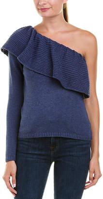 Ella Moss One-Shoulder Silk-Blend Pullover