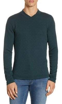 Giorgio Armani Geometric Relif Cotton Sweater