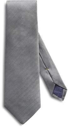 Eton Herringbone Solid Classic Tie