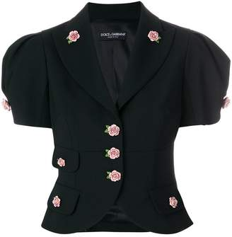 Dolce & Gabbana rose embellished cropped jacket