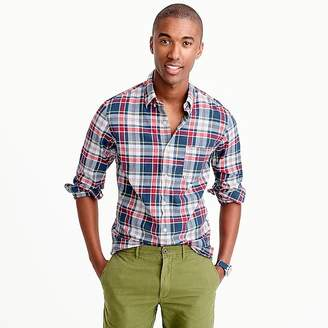Madras shirt in navy ink plaid $59.50 thestylecure.com