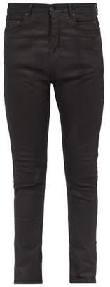 Rick Owens Detroit Slim Fit Coated Jeans - Mens - Black