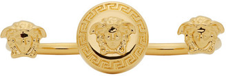 Versace Gold Medusa Knuckle Ring $195 thestylecure.com