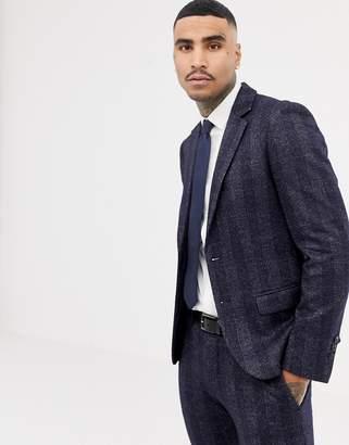 Antony Morato slim fit suit jacket in navy check