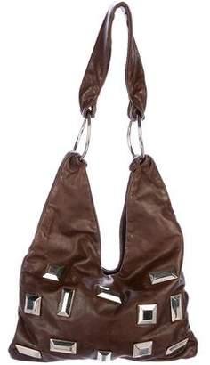 Marni Embellished Leather Hobo