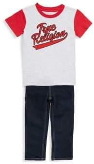 True Religion Little Boy's Baseball Tee & Jeans Set