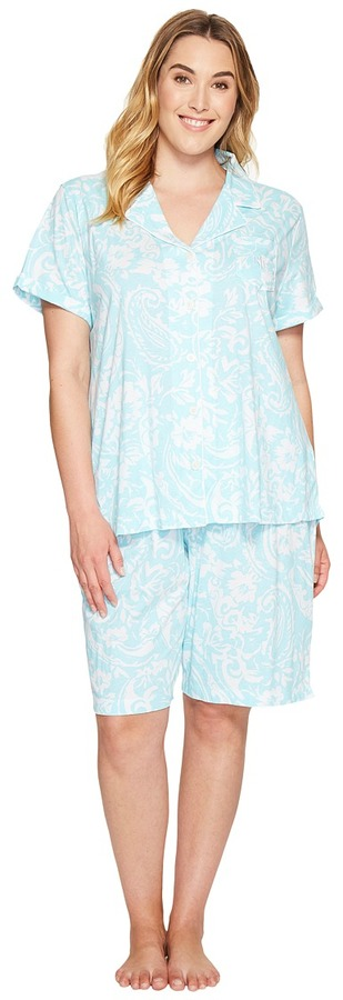 Lauren Ralph LaurenLAUREN Ralph Lauren - Plus Size Bermuda PJ Set Women's Pajama Sets