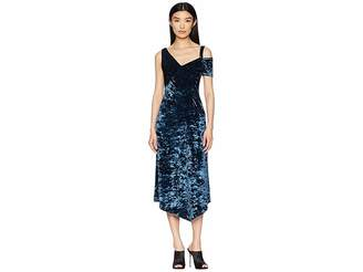 Yigal Azrouel Crushed Velvet Jersey Dress