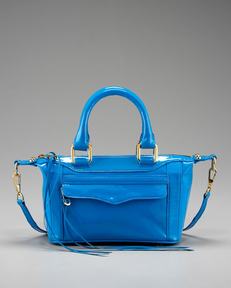 Rebecca Minkoff Mini Mini Morning After Bag, Fluoro Blue