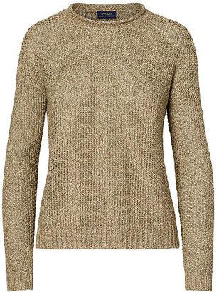 Polo Ralph Lauren Boxy Cotton-Linen Sweater $198 thestylecure.com
