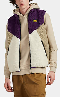 Leon AIMÉ DORE Men's Colorblock Fleece Vest - Purple