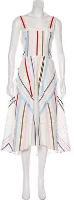 Tanya Taylor Stripe Midi Dress