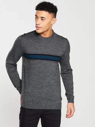 Ted Baker Long Sleeve Striped Crew Neck Knit