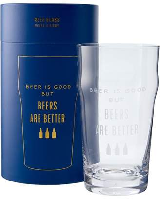 Indigo BEER IS GOOD GLASS