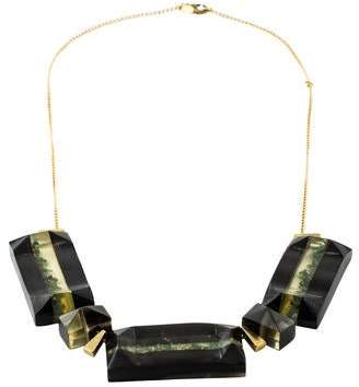 Marni Horn, Resin & Crystal Necklace