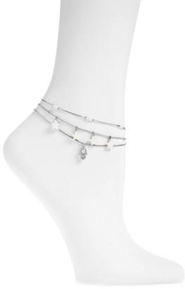 Women's Topshop Set Of 3 Charm Anklets $15 thestylecure.com