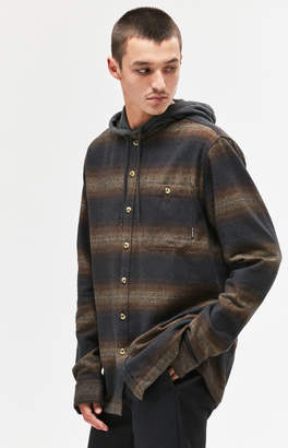 Billabong Baja Hooded Flannel Long Sleeve Button Up Shirt