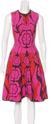 Alexander McQueen Sleeveless Knit Midi Dress