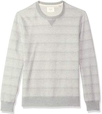Billy Reid Men's Blurred Stripe Crewneck Sweatshirt