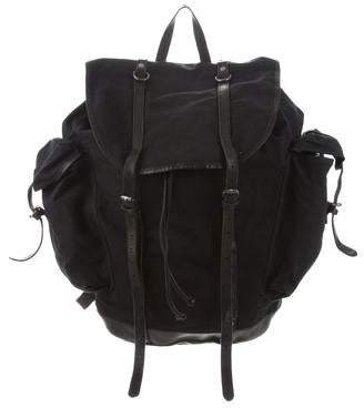 b2964e60c7 Dries Van Noten Canvas & Leather Backpack