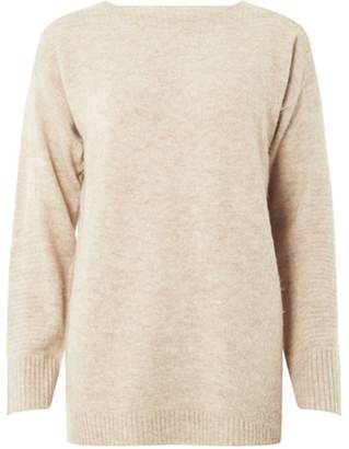 Dorothy Perkins Womens Camel Wide Neck Jumper