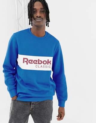 Reebok Classics Logo Sweatshirt In Blue DX2345