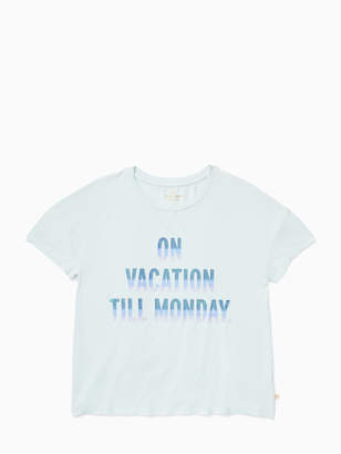 Kate Spade girls on vacation tee