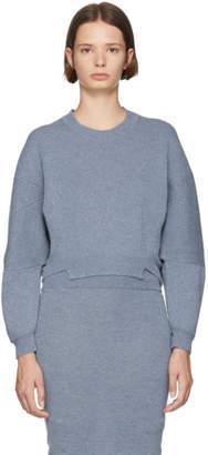 Stella McCartney Blue Wool and Alpaca Crewneck Sweater
