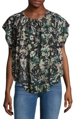 IRO Iseline Relaxed Printed Top