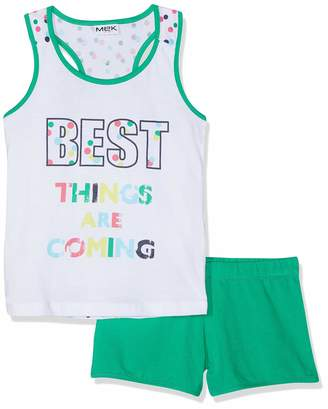 MEK Girl's Completo Canotta+Shorts Clothing Set