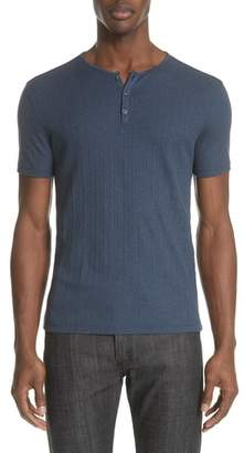 John Varvatos Collection Rib Henley T-Shirt
