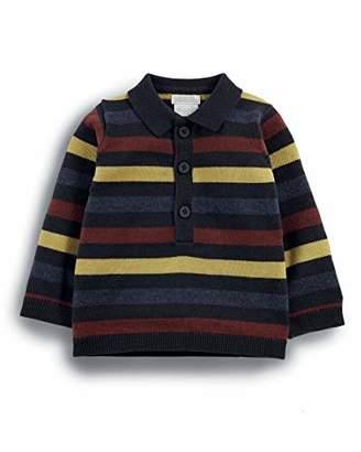 Mamas and Papas Baby Boys' Striped Knit Polo Shirt, Multi